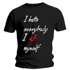 -I Hate Everybody- Unisex Black Tee