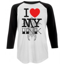 I Love My Ink Unisex Baseball T-Shirt
