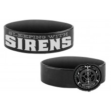 Sleeping With Sirens Madness Black Silicone Wristband