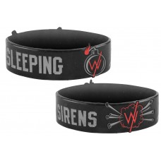 Sleeping With Sirens Bomb Black Silicone Wristband