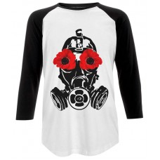 Poppy Mask Unisex Baseball T-Shrt