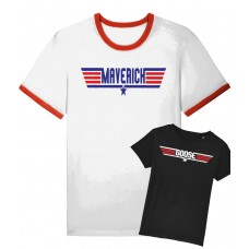 Maverick and Goose Adult and Child Matching Tee
