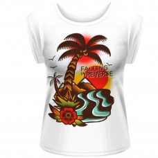 Falling In Reverse Island Rolled Sleeve White Fit T-Shirt