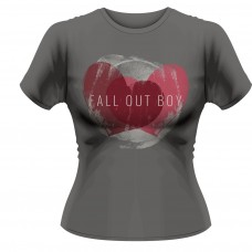 Fall Out Boy Wheathered Hearts Grey Fit T-Shirt